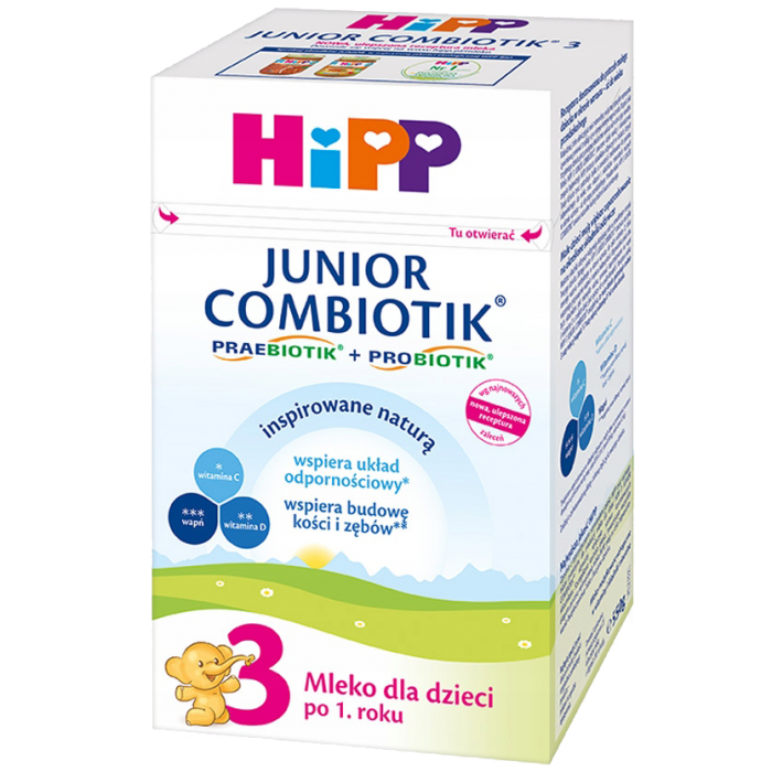 HiPP 3 550g Junior Combiotik mleko następne dla dzieci po 1 roku