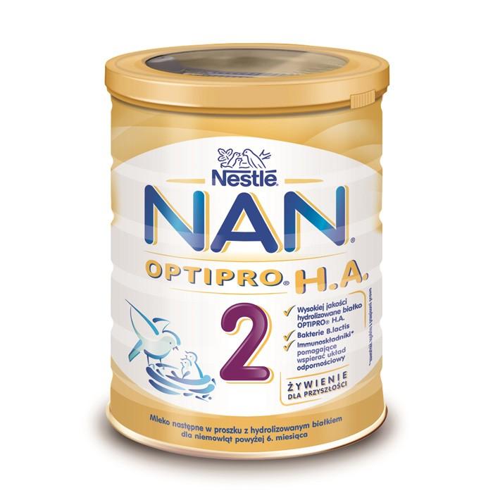 NAN Optipro H.A. 2 mleko hipoalergiczne po 6 miesiącu 400g