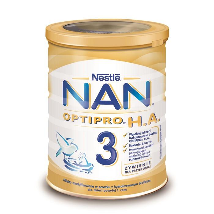 NAN Optipro H.A. 3 mleko hipoalergiczne po 12 miesiącu 400g