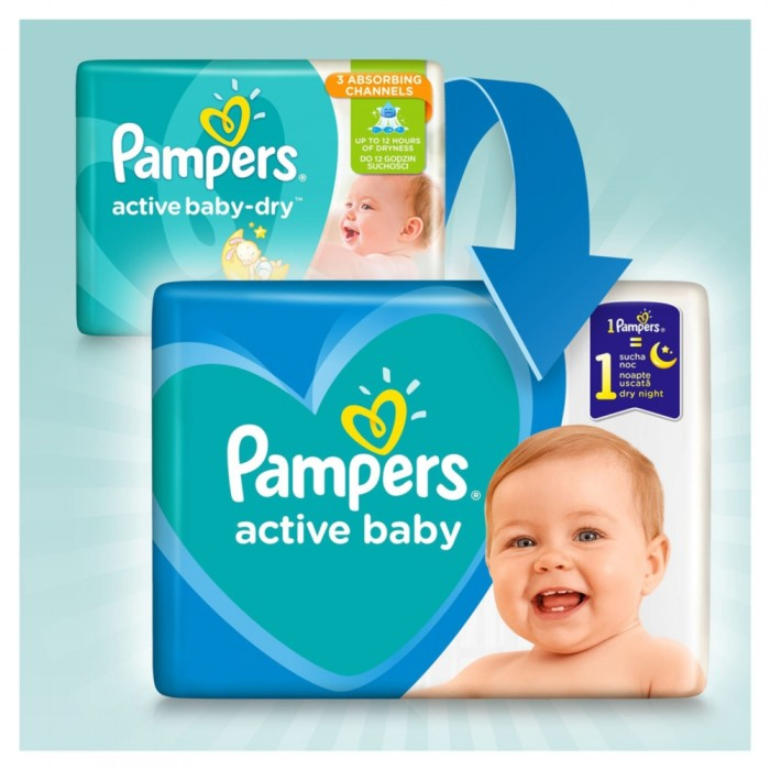 Pampers Active Baby 5 (11-16kg) 78 sztuk