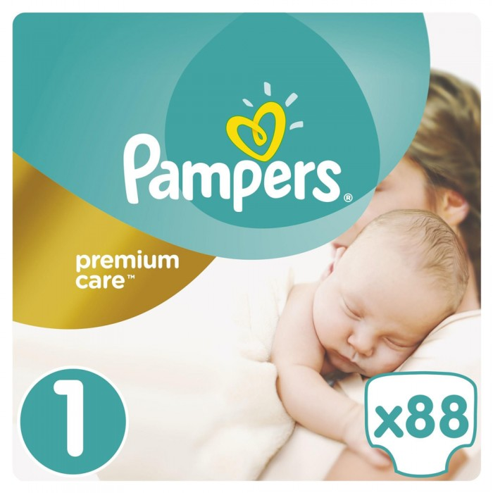 Pampers-Premium Care Rozmiar 1 Newborn 2-5 kg 88 pieluszek
