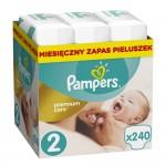 Pampers Premium Care 2 - 240 sztuki JUMBO BOX - rozmiar MINI - dla dzieci 3-6kg