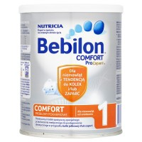 Bebilon Comfort 1 ProExpert mleko modyfikowane dla niemowląt z tendencją do kolek i zaparć 400g