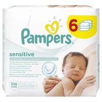 PAMPERS Sensitive chusteczki 6x56 sztuk