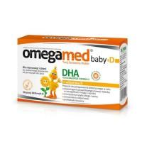 OmegaMed baby z vit.D dla niemowląt i dzieci x30 kaps