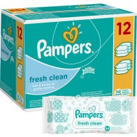 PAMPERS Fresh Clean 12x64sztuki