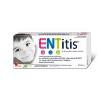 ENTitis 30 pastylek na gardło o smaku truskawkowym