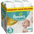 Pampers Premium Care 3 JUMBO BOX 204 sztuki na cały miesiąc