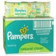 PAMPERS Natural clean chusteczki 12x64 zestaw