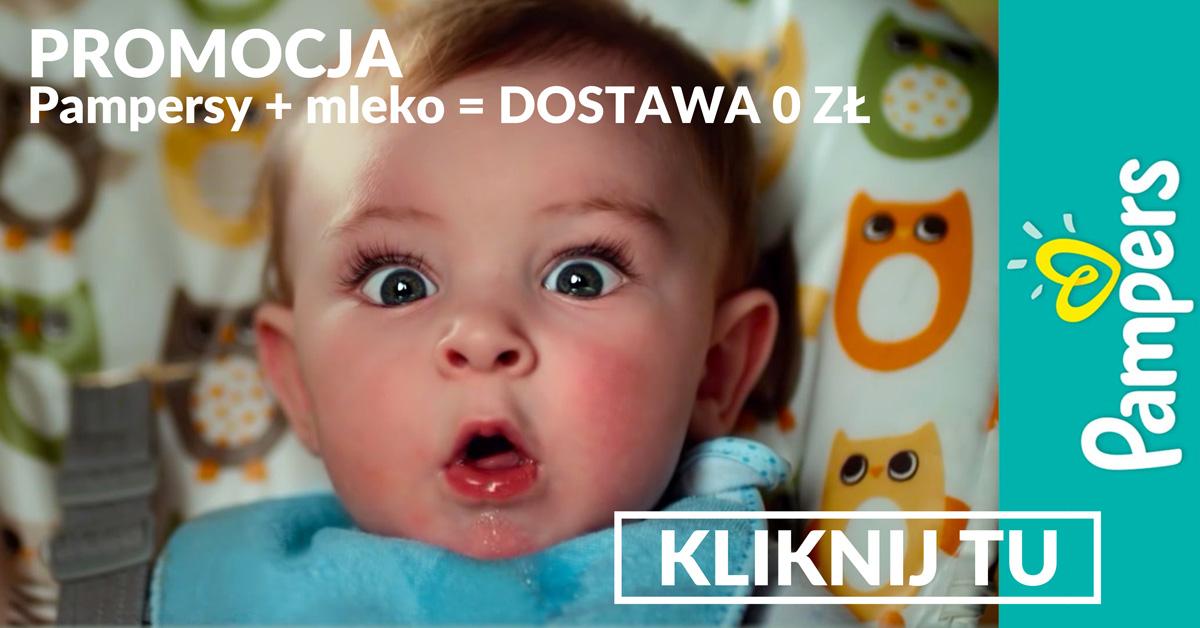 Promocja Pampers + mleko = dostawa 0 zł